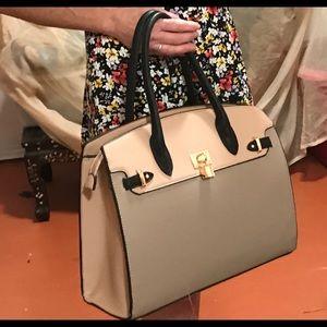 Handbags - Two tone shoulder bag